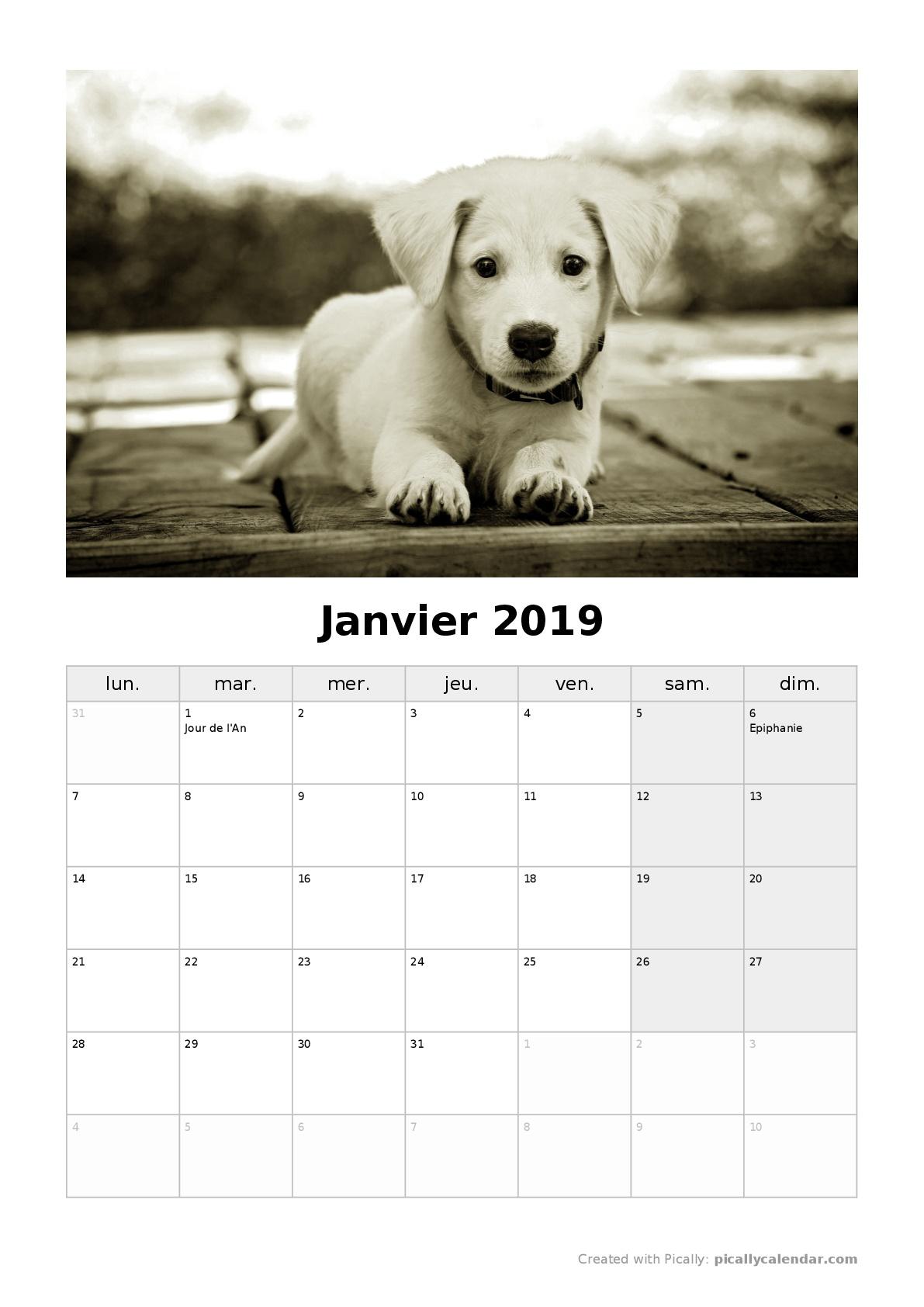 Calendrier 2019 A Personnaliser Et A Imprimer Gratuitement En Pdf
