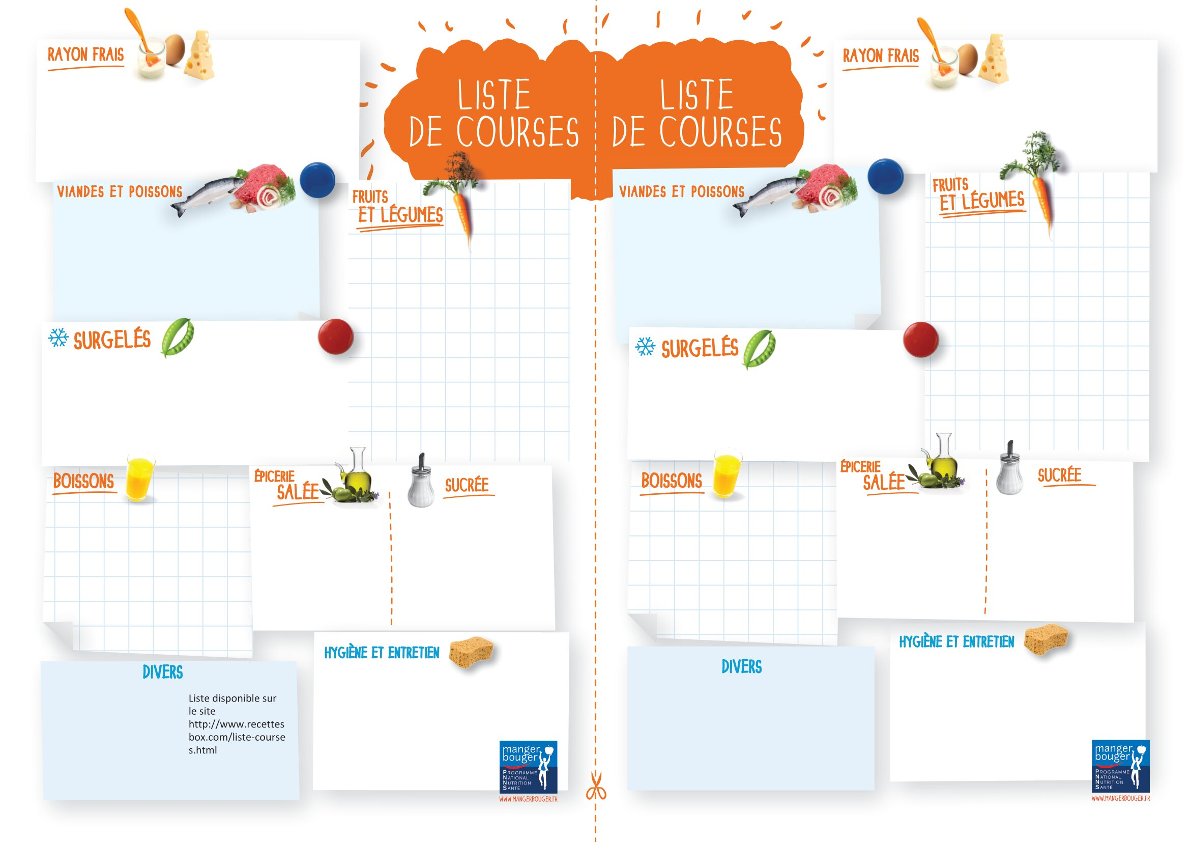 12 listes de courses prêtes à imprimer - modèles PDF et Excel